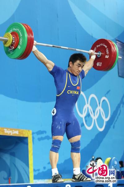 ウェイトリフティング男子69キロ級で廖輝選手が中国13個目の金メダルを獲得した。