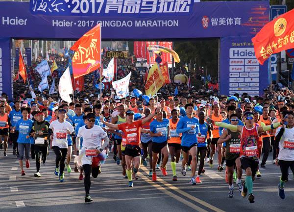 71225cfd51 2017青島マラソンに2万人参加_人民中国